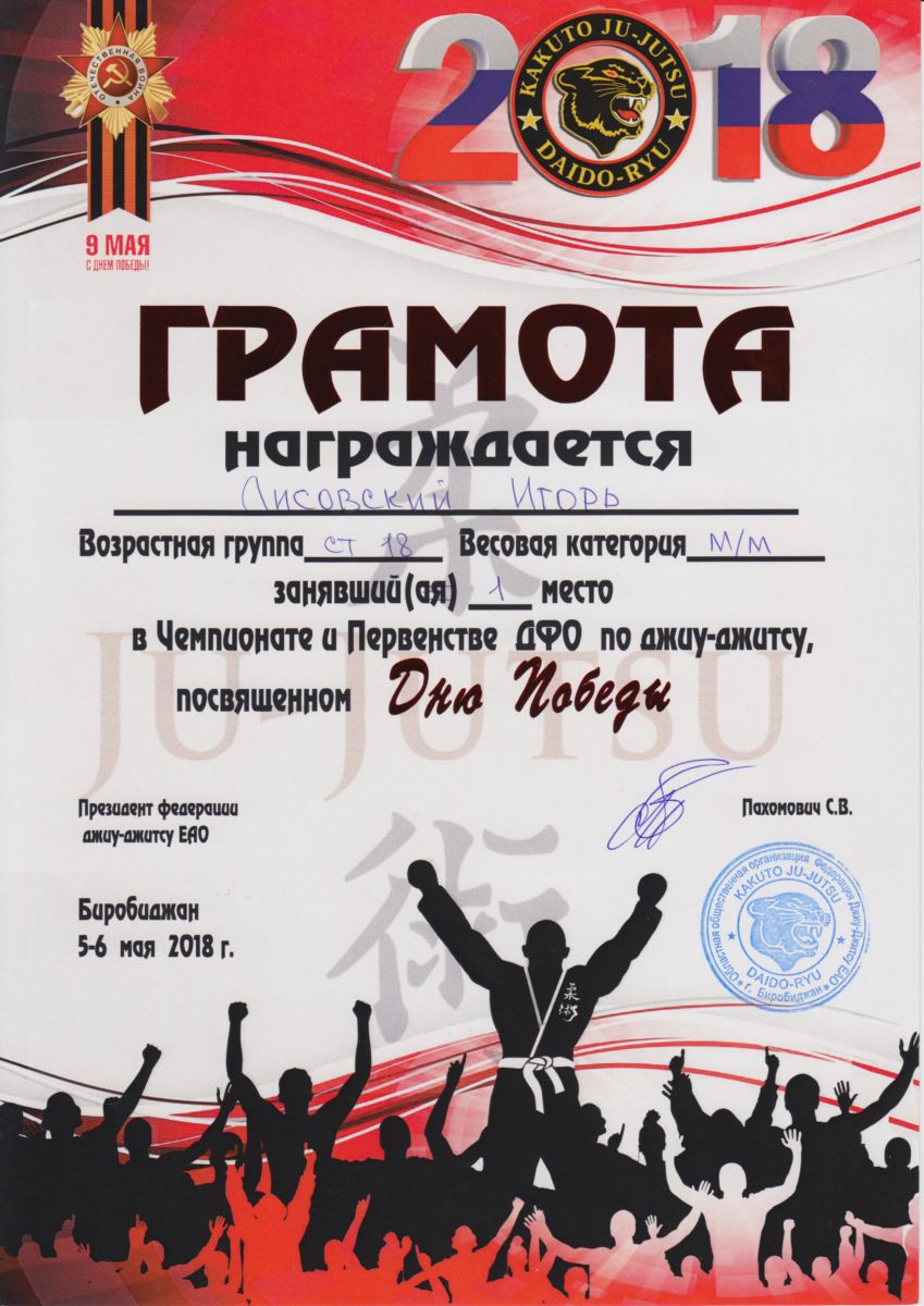 Участие в чемпионате по джиу-джитсу